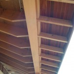 Detailed exposed rafter tails in soffit