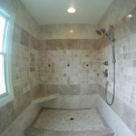 Master shower with marble